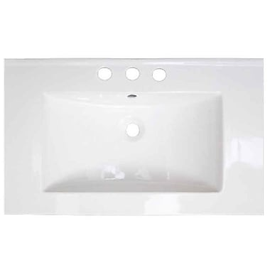 American Imaginations Roxy Ceramic 32'' Single Bathroom Vanity Top; 8'' Centers
