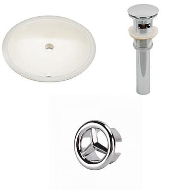 American Imaginations Oval Undermount Bathroom Sink w/ Overflow; Chrome
