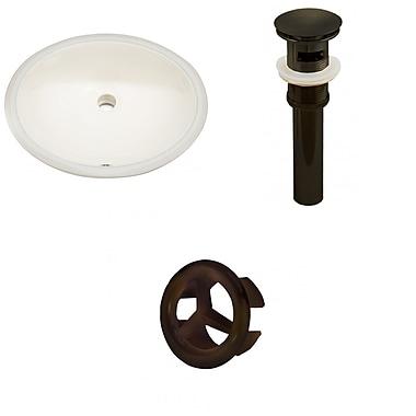 American Imaginations Oval Undermount Bathroom Sink w/ Overflow; Oil Rubbed Bronze