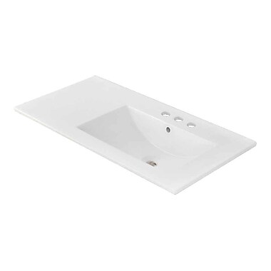American Imaginations Ceramic 36'' Single Bathroom Vanity Top; 4'' Centers