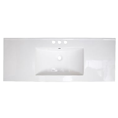 American Imaginations Ceramic 40'' Single Bathroom Vanity Top; 4'' Centers