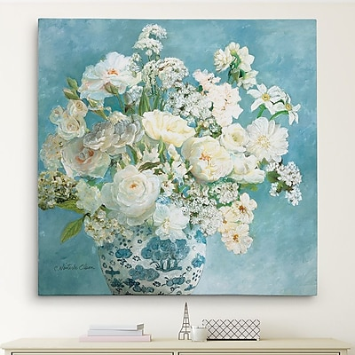 Astoria Grand 'Savannah's Garden I' Oil Painting Print on Wrapped Canvas; 24'' H x 24'' W