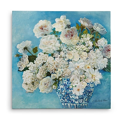 Astoria Grand 'Savannah's Garden II' Oil Painting Print on Wrapped Canvas; 16'' H x 16'' W