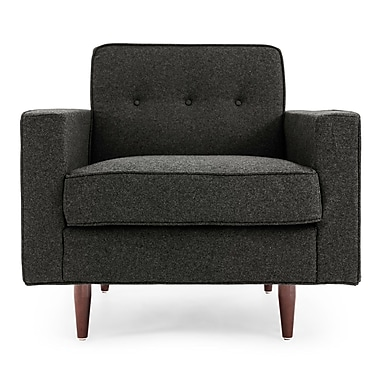 Brayden Studio Potter Mid Century Modern Armchair; Charcoal