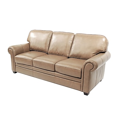 Darby Home Co Brentford Leather Sofa; Camel