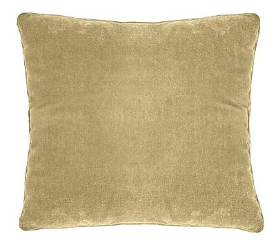 Darby Home Co Ted Soft Velvet Throw Pillow; Musturd