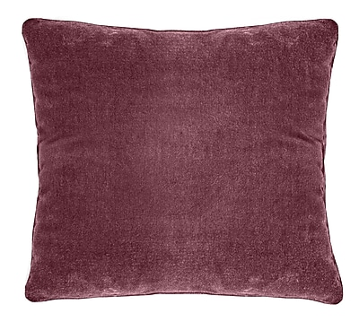 Darby Home Co Ted Soft Velvet Throw Pillow; Red