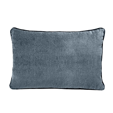 Darby Home Co Ted Velvet 100pct Cotton Boudoir Pillow; Electric Blue