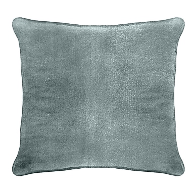 Darby Home Co Ted Velvet 100pct Cotton Euro Pillow; Cyan