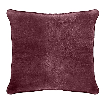 Darby Home Co Ted Velvet 100pct Cotton Euro Pillow; Ruby