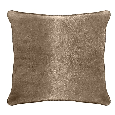 Darby Home Co Ted Velvet 100pct Cotton Euro Pillow; Tan