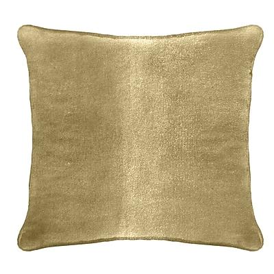 Darby Home Co Ted Velvet 100pct Cotton Euro Pillow; Tortilla