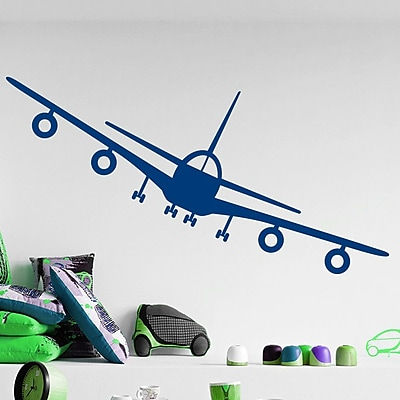 Decal House Airplane Wall Decal; Navy