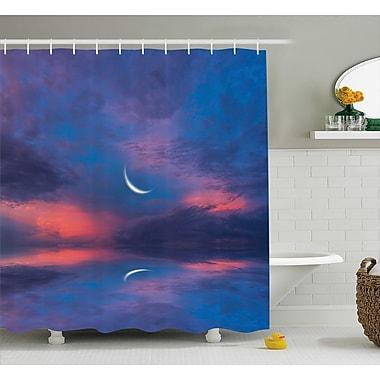Ebern Designs Clovis Crescent Moon Decor Shower Curtain; 69'' H x 84'' W