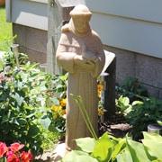 EMSCO Group St. Francis Statue; Sandstone