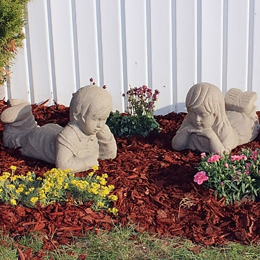 EMSCO Group Day Dreaming Statue; Sandstone