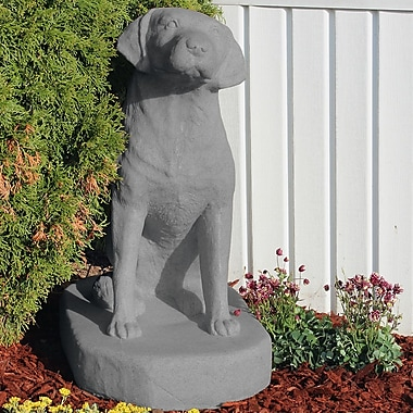 EMSCO Group Labrador Sitting Statue; Granite