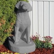 EMSCO Group Labrador Sitting Statue; Granite