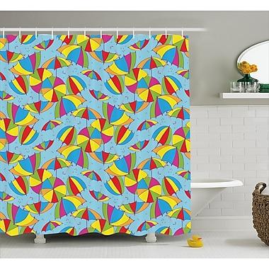 East Urban Home Cute Umbrellas Decor Shower Curtain; 69'' H x 75'' W