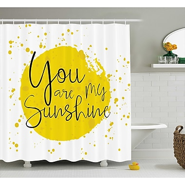 East Urban Home Circular Splash Quotes Decor Shower Curtain; 69'' H x 75'' W