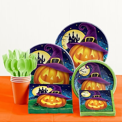 Creative Converting 81 Piece October Eve Halloween Tableware Set WYF078281522421