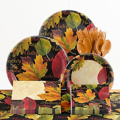 Creative Converting 73 Piece Autumn Expressions Thanksgiving