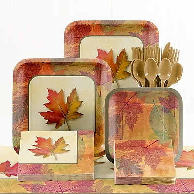 Creative Converting 73 Piece Burnished Leaves Thanksgiving