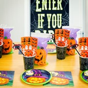 Creative Converting 169 Piece October Eve Halloween Tableware Set