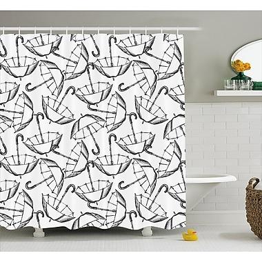 East Urban Home Umbrella Motifs w/ Handles Decor Shower Curtain; 69'' H x 75'' W
