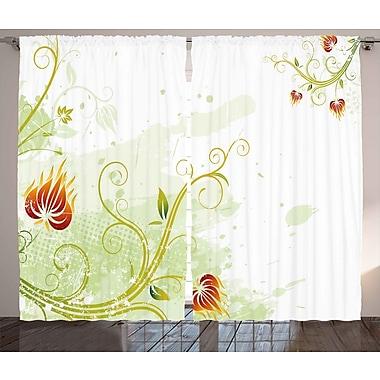 East Urban Home Swirled Room Darkening Rod Pocket Curtain Panels (Set of 2); 54'' x 90''