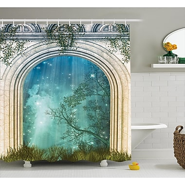 East Urban Home Curved Door Decor Shower Curtain; 69'' H x 75'' W