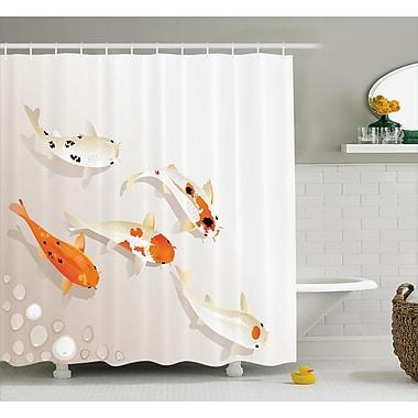 East Urban Home Spotty Koi Carps Decor Shower Curtain; 69'' H x 70'' W
