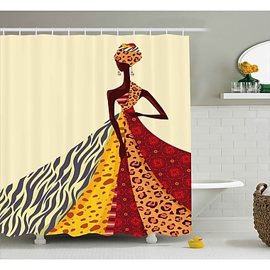 East Urban Home African Girl Decor Shower Curtain; 69'' H x 75'' W