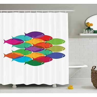 East Urban Home Nested Fish Decor Shower Curtain; 69'' H x 75'' W