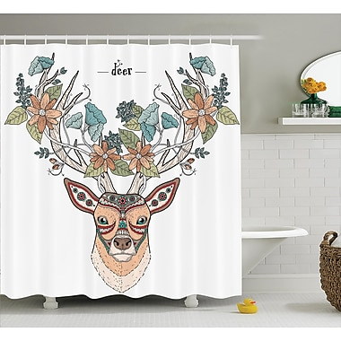 East Urban Home Flowers Bloom Shower Curtain; 69'' H x 70'' W