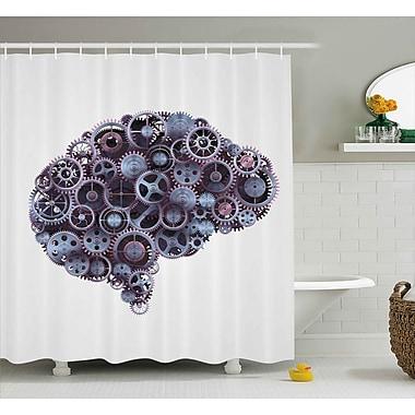 East Urban Home Industrial Decor Shower Curtain; 69'' H x 70'' W