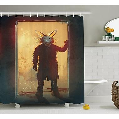 East Urban Home Man w/ Rabbit Decor Shower Curtain; 69'' H x 84'' W