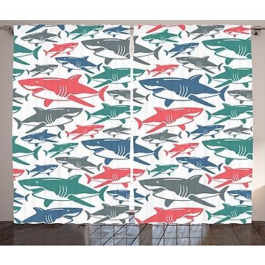East Urban Home Decor Nautical Room Darkening Rod Pocket Curtain Panels ( Set of 2) (Set of 2)