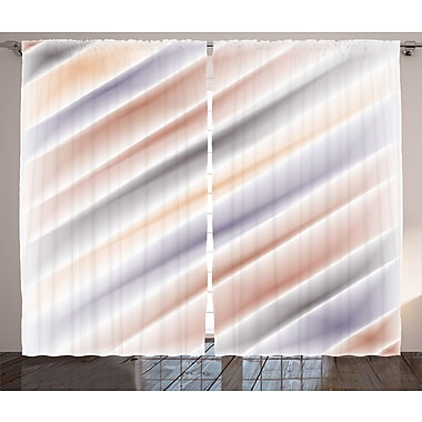 East Urban Home Pale Layout Decor Abstract Room Darkening Rod Pocket Curtain Panels (Set of 2)