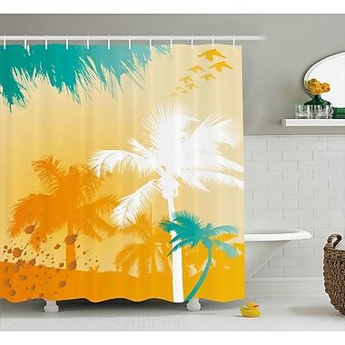 East Urban Home Palms Shower Curtain; 69'' H x 84'' W