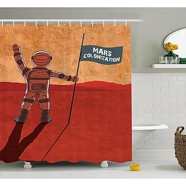 East Urban Home Mars Colonization Decor Shower Curtain; 69'' H x 84'' W