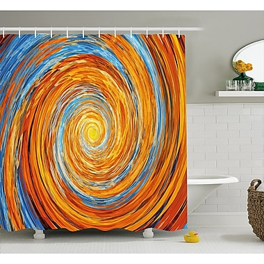 East Urban Home Spiral Rotary Shower Curtain; 69'' H x 75'' W