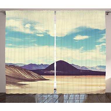 East Urban Home Plateau Landscape Graphic Print Room Darkening Rod Pocket Curtain Panels (Set of 2)