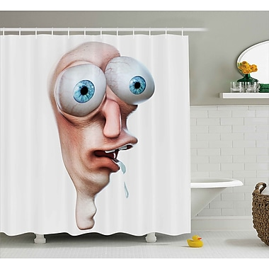 East Urban Home Stupid Derp Human Face Decor Shower Curtain; 69'' H x 84'' W