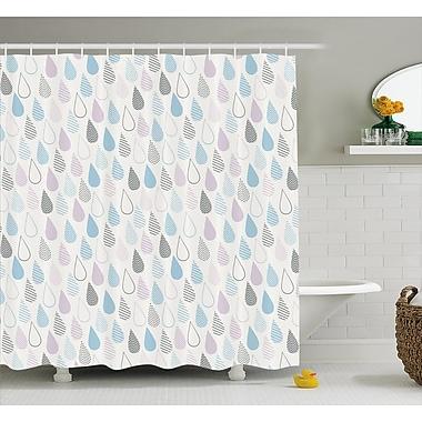 East Urban Home Raindrops Decor Shower Curtain; 69'' H x 75'' W