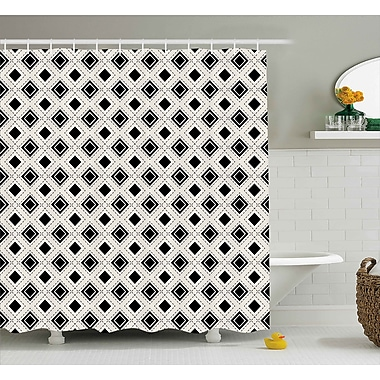 East Urban Home Square Dots Shower Curtain; 69'' H x 75'' W