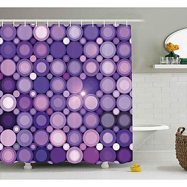 East Urban Home Geometrical Circles Modern Decor Shower Curtain; 69'' H x 84'' W