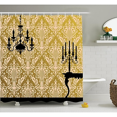 East Urban Home Chandelier Shower Curtain; 69'' H x 70'' W