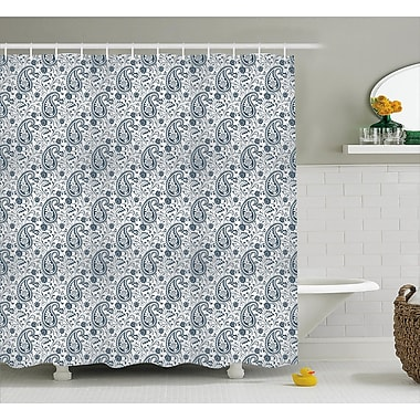 East Urban Home Flowers and Leaves Decor Shower Curtain; 69'' H x 70'' W