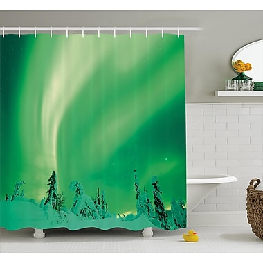 East Urban Home Snowy Pine Shower Curtain; 69'' H x 70'' W